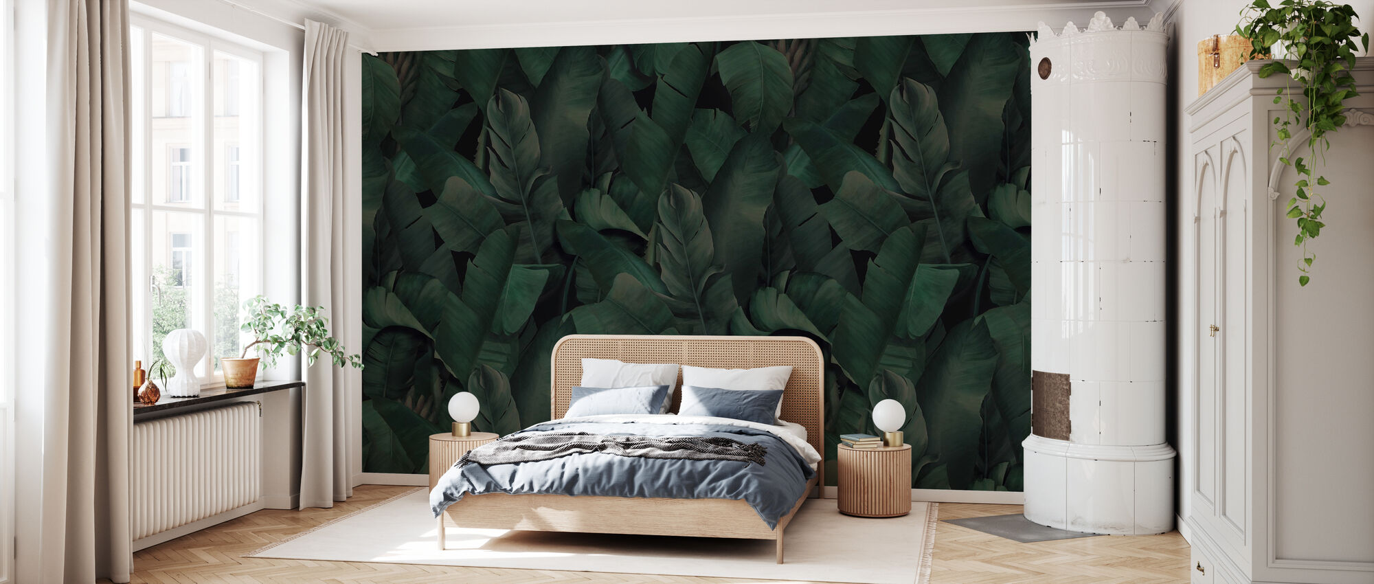 Botany Tropical Forest Green - Wallpaper - Bedroom