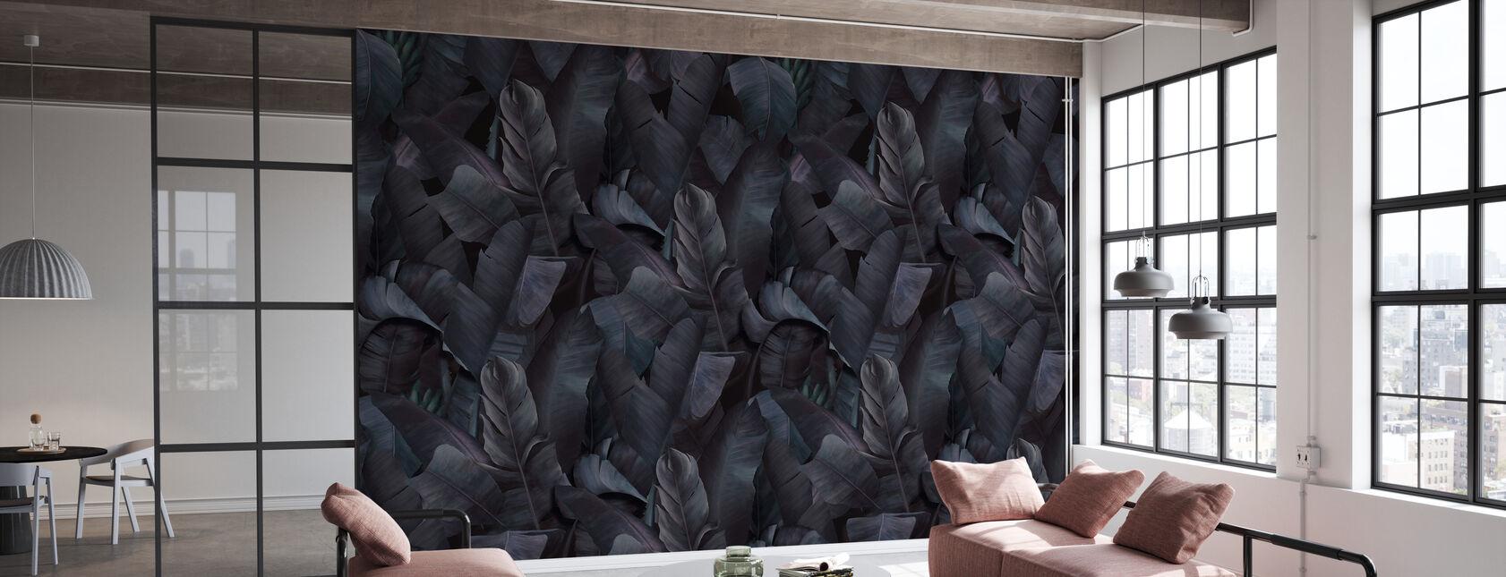 Botany Tropical Deep Indigo - Wallpaper - Office