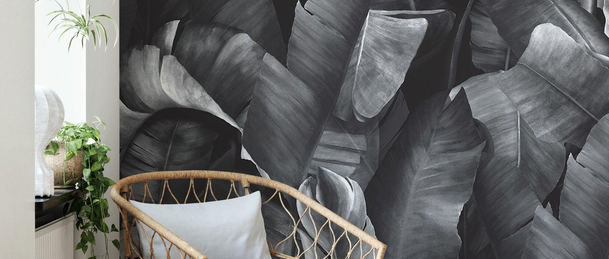 Botany Tropical Steel Grijs - Behang - Woonkamer