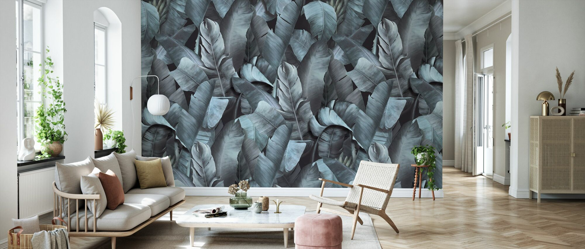 Botany Tropical Silver Mist - Wallpaper - Living Room