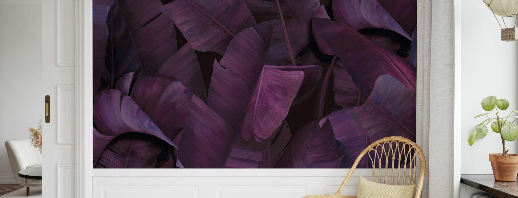 Botany Tropical Vivid Violet - Wallpaper - Kids Room