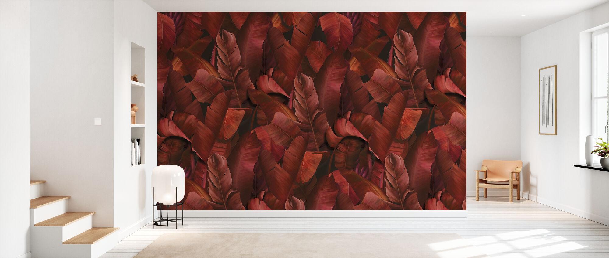 Botany Tropical Burnt Orange - Wallpaper - Hallway