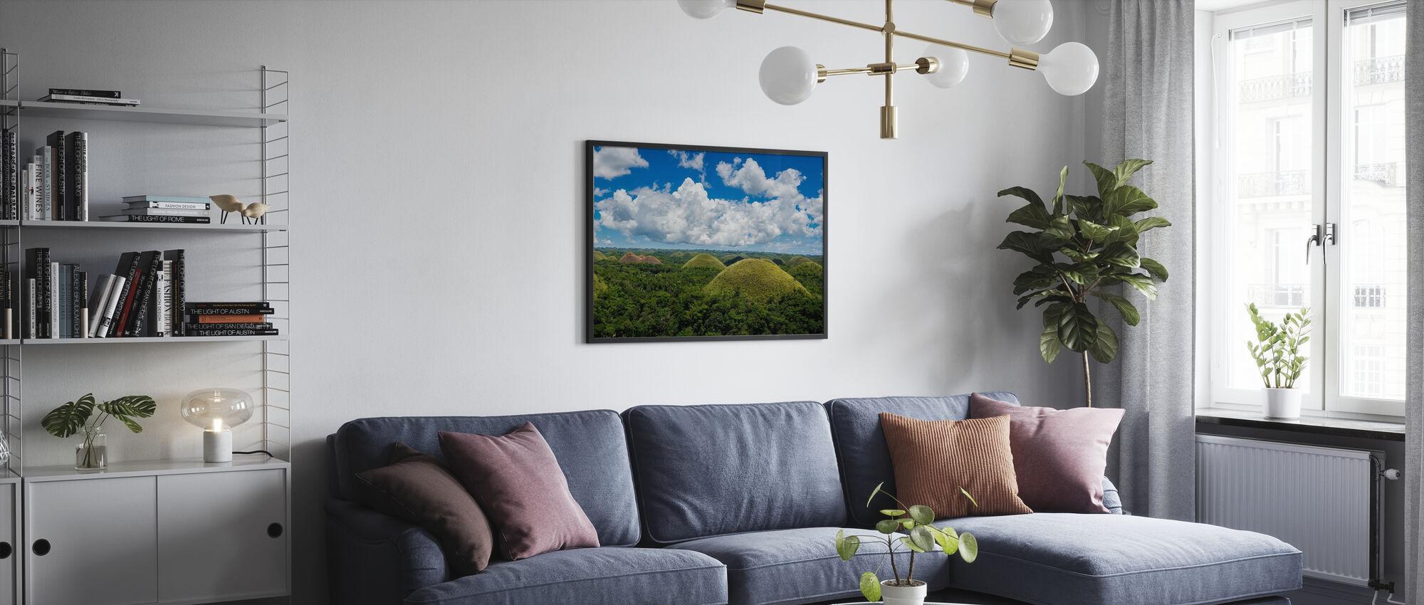 Chocolate Hills - Poster - Wohnzimmer
