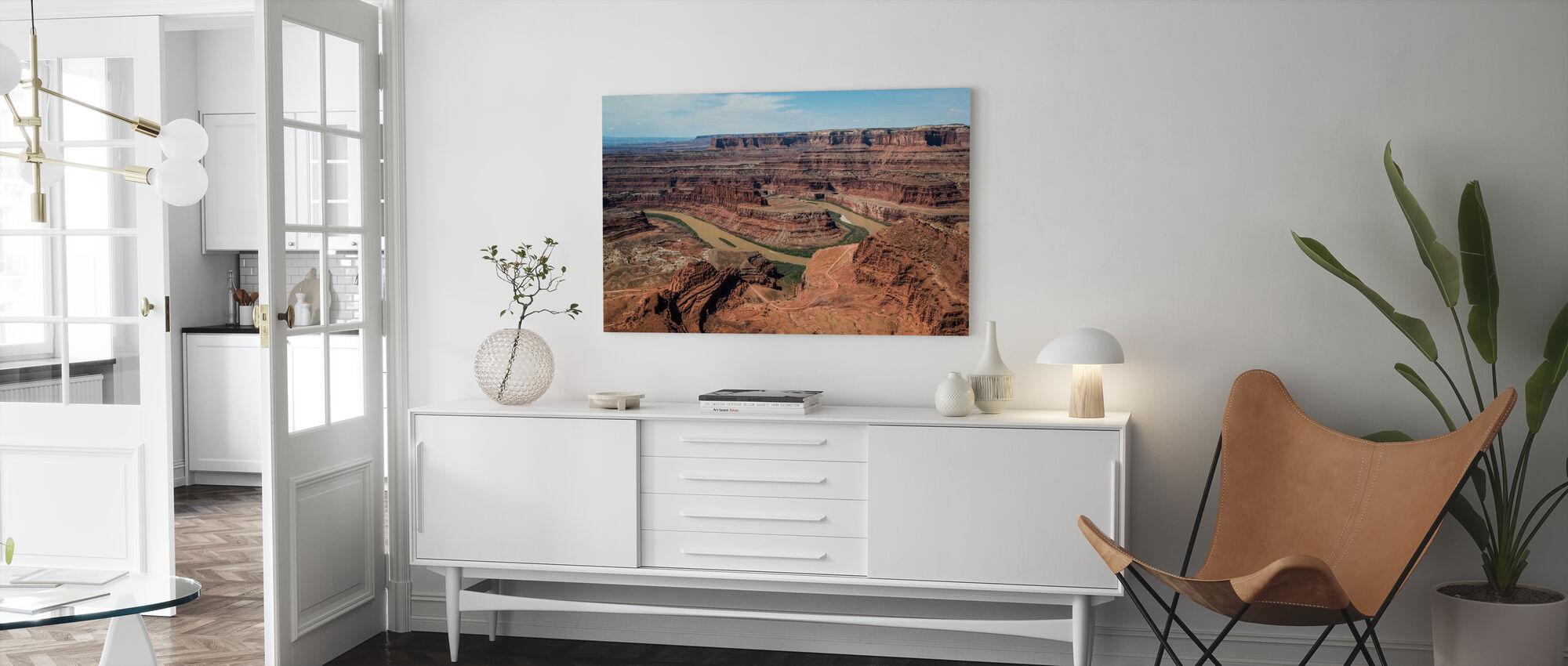Dead Horsepoint Perspective of Gooseneck Color - Canvas print - Living Room