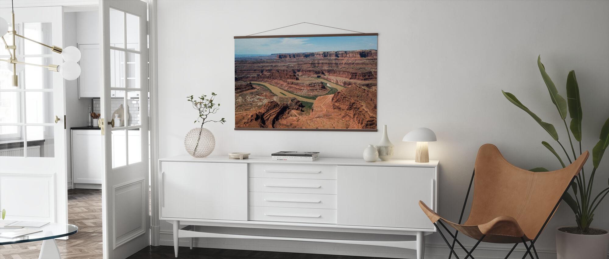Dead Horsepoint Perspective of Gooseneck Color - Poster - Living Room