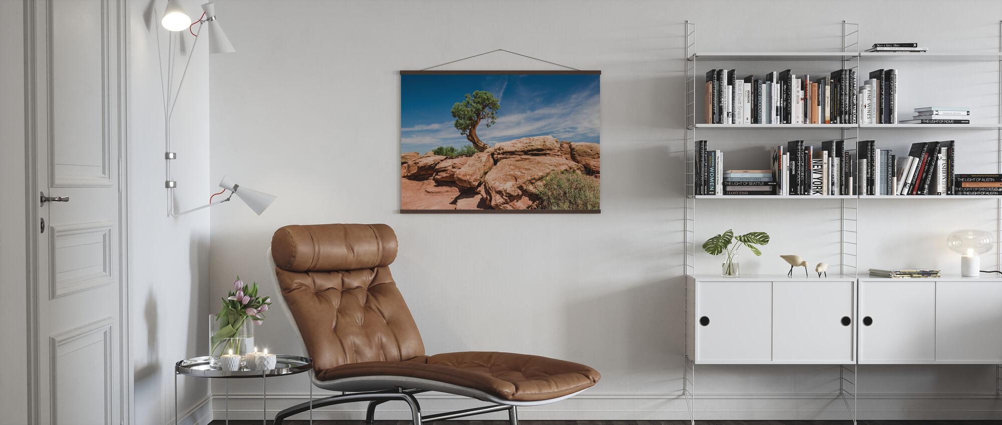 Desert tree in Utah - Poster - Living Room