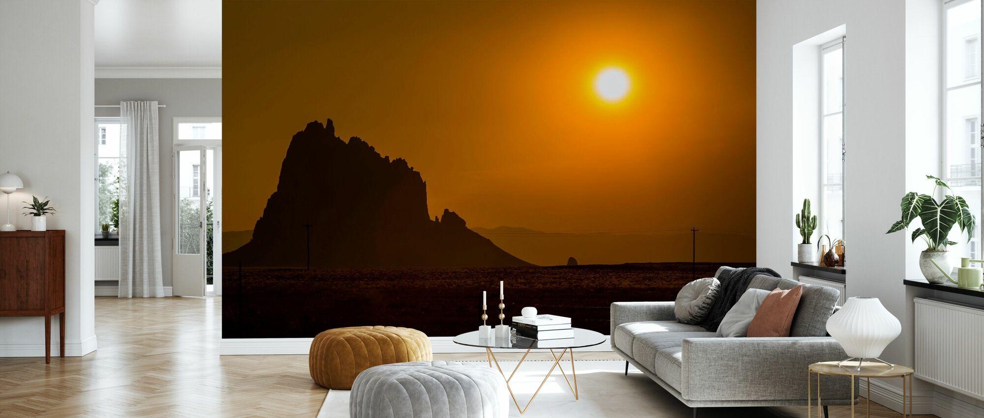 Shiprock at Sunset - Wallpaper - Living Room