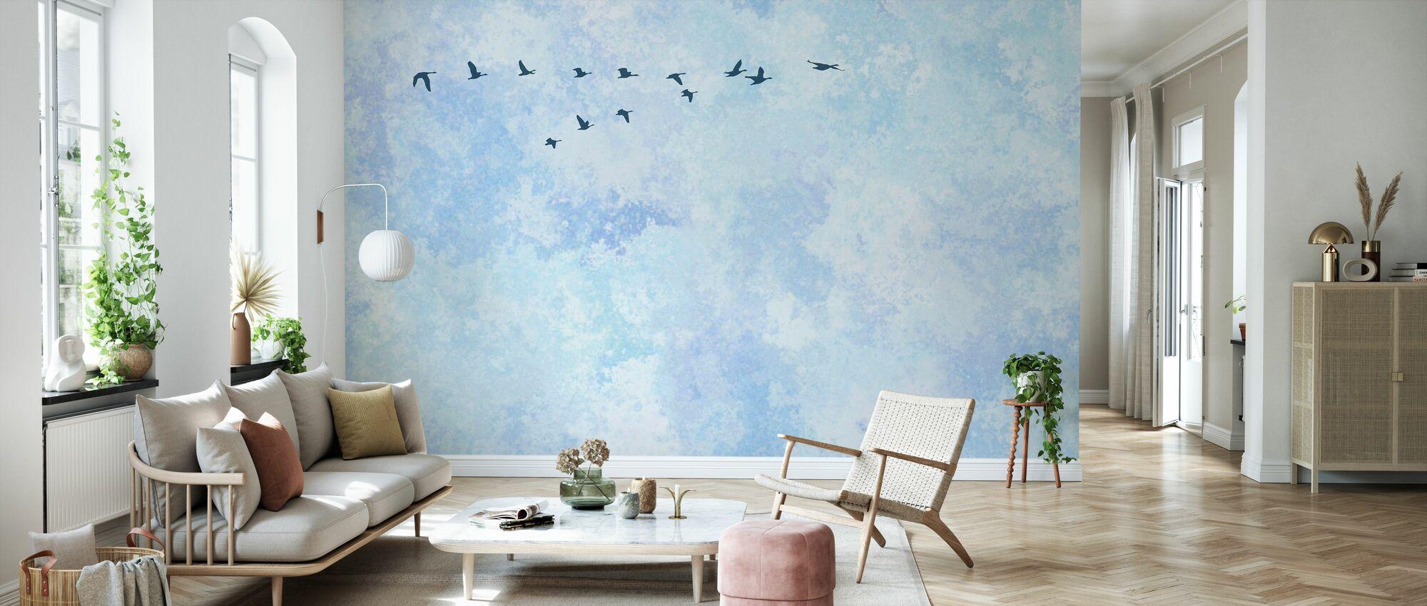 Flying High Birds - Wallpaper - Living Room