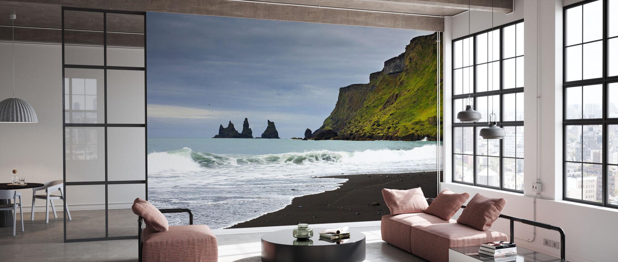 Zwart zand van IJsland - Behang - Kantoor