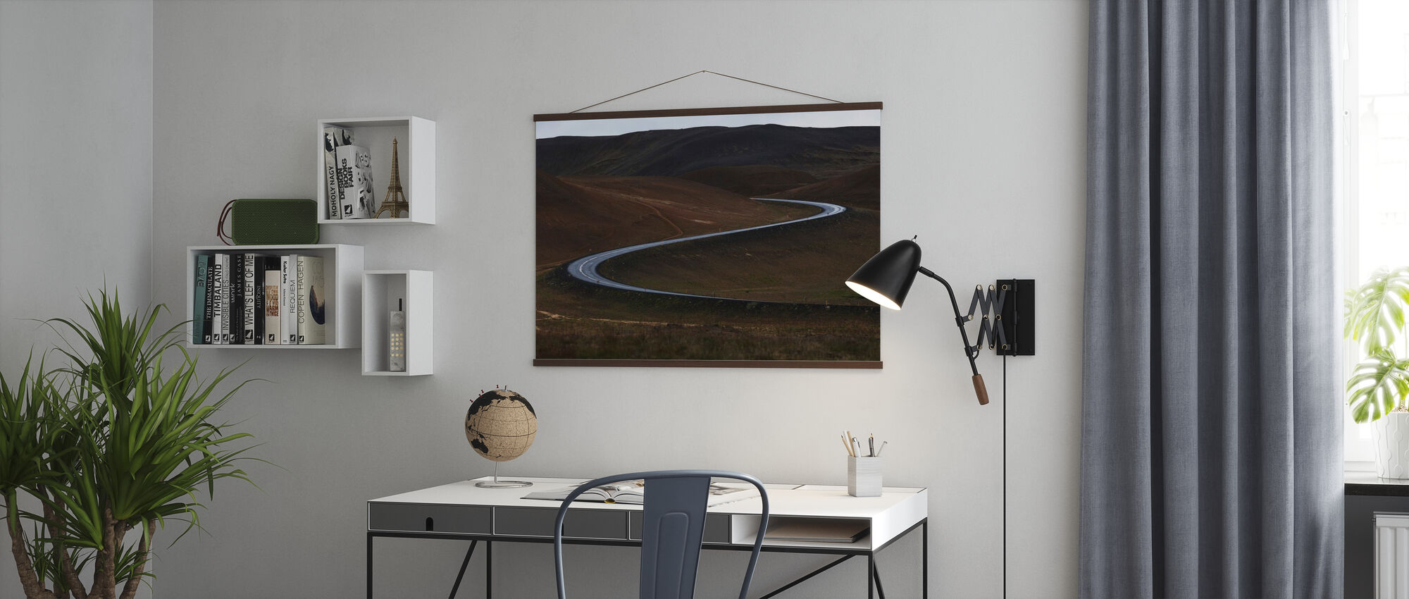 Curves of Iceland - Poster - Office
