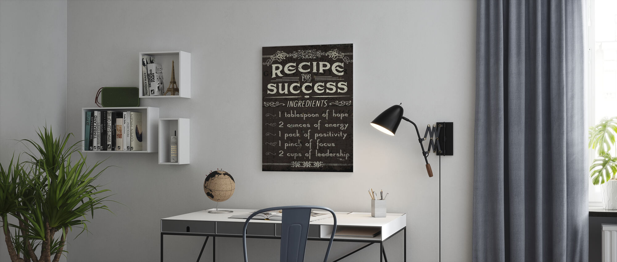 Life Recipes II - Canvas print - Office