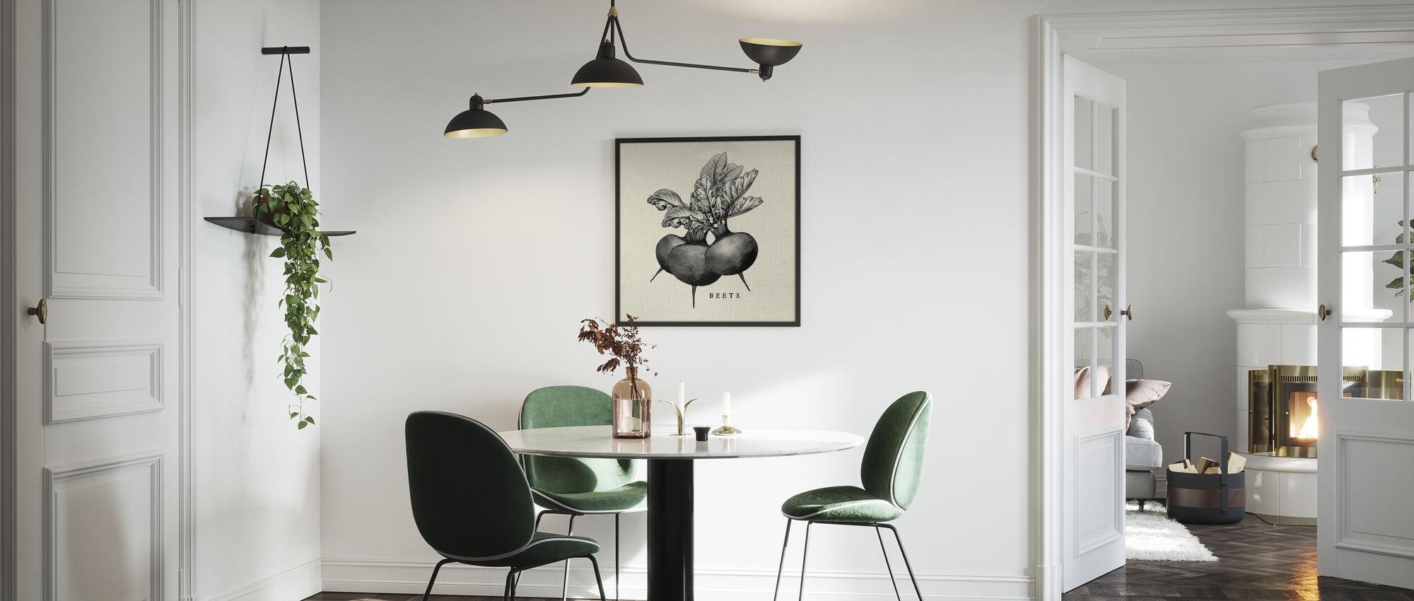 Keuken Illustratie - Bieten - Ingelijste print - Keuken