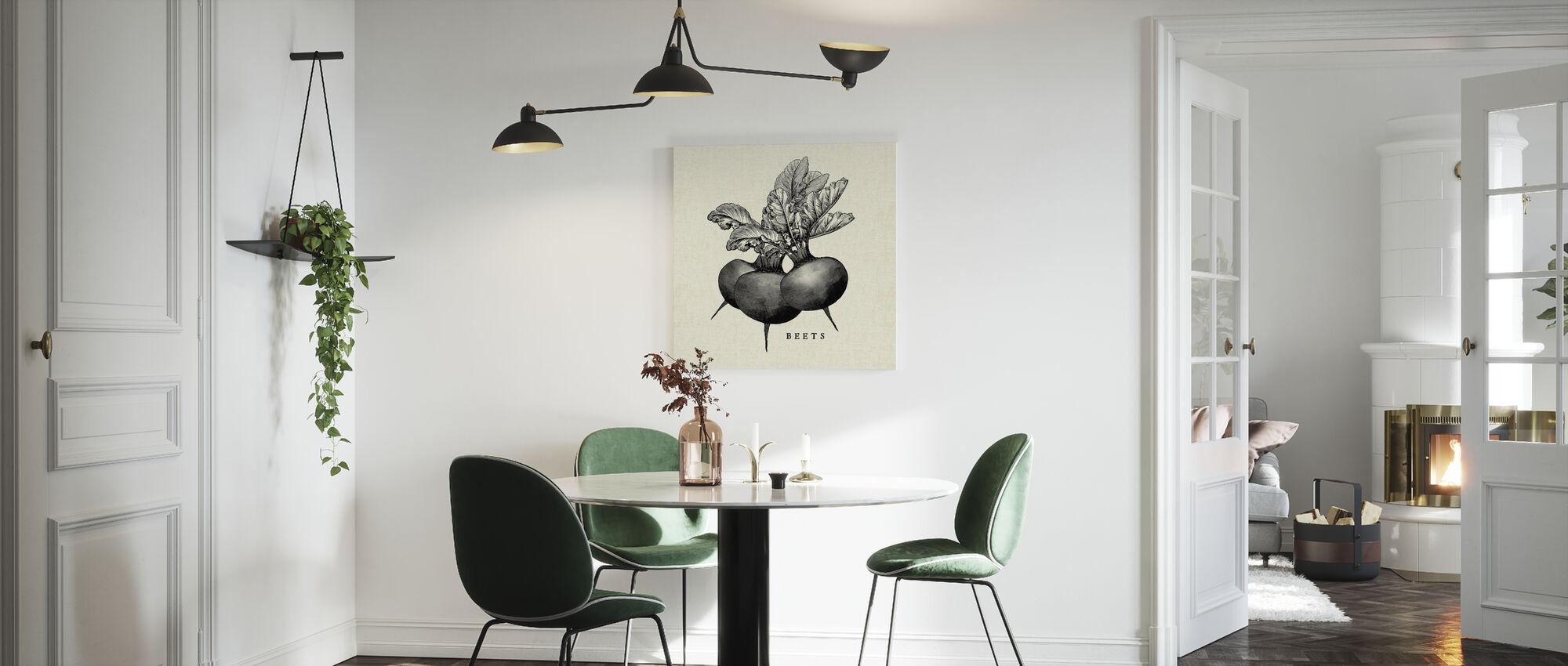 Kitchen Illustration - Beets - Canvas print - Kitchen