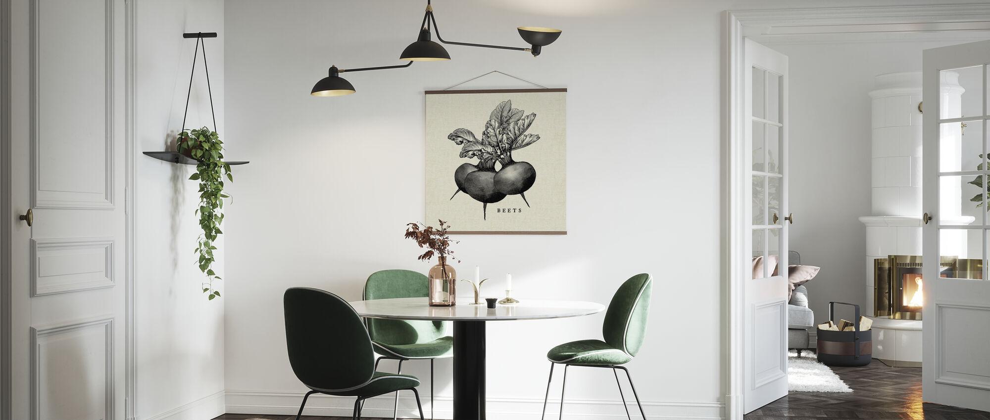 Keuken Illustratie - Bieten - Poster - Keuken