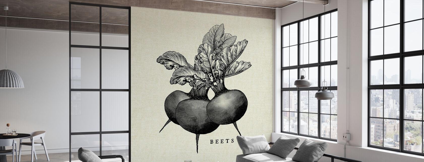 Kitchen Illustration - Beets - Wallpaper - Office