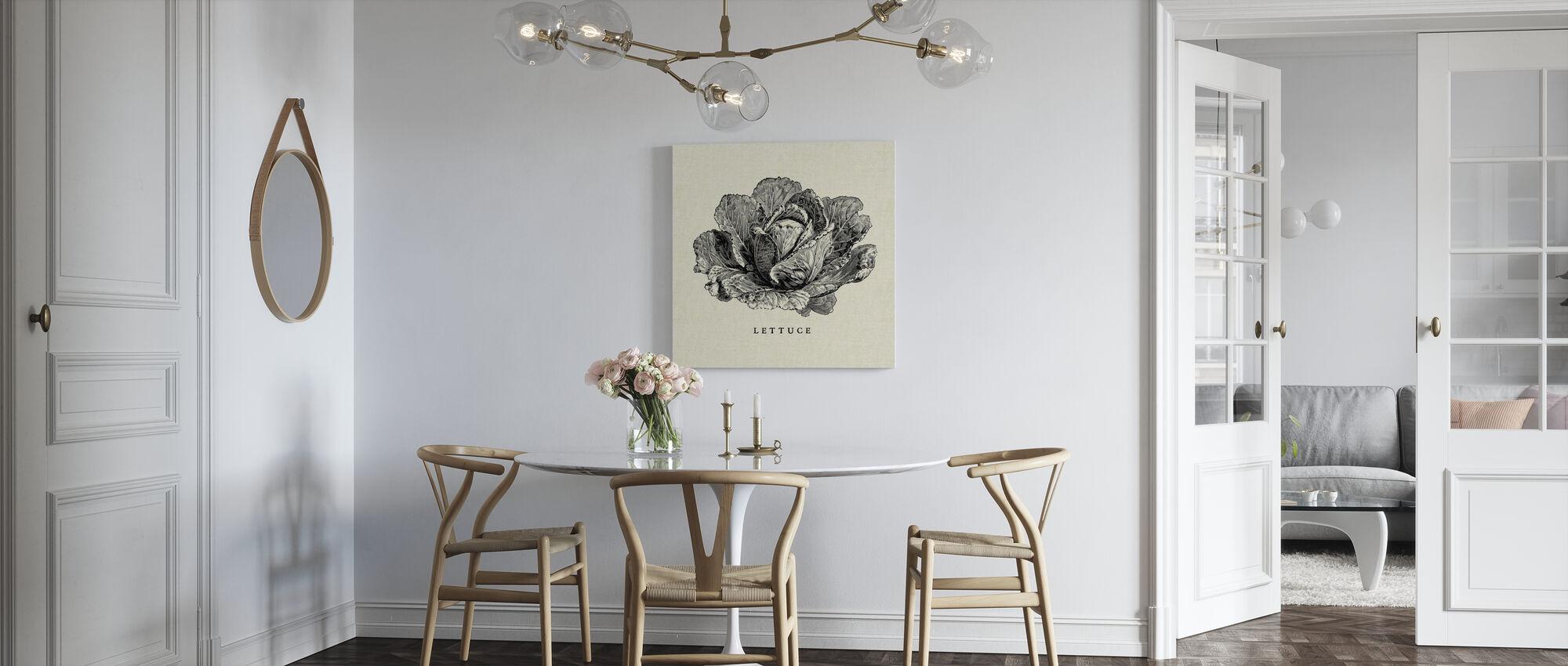 Kitchen Illustration - Lettuce - Canvas print - Kitchen
