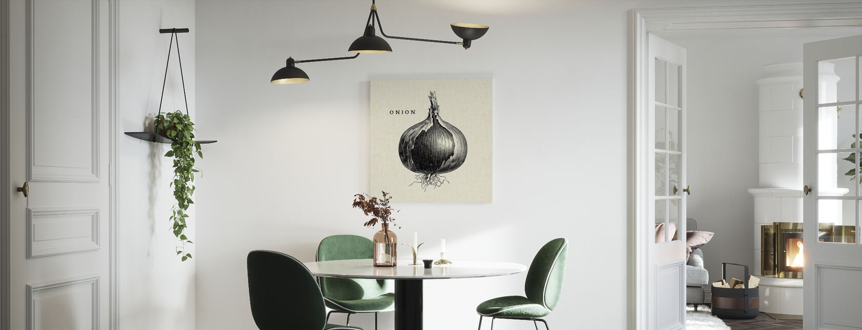 Küche Illustration - Zwiebel - Leinwandbild - Küchen