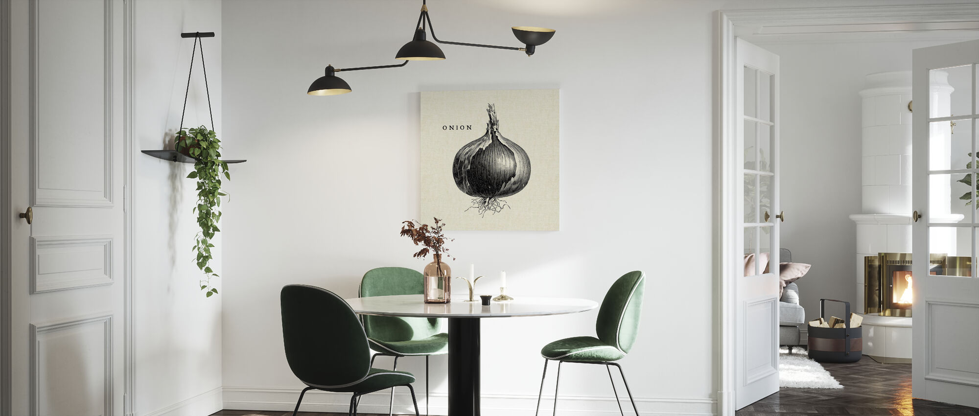 Kitchen Illustration - Onion - Canvas print - Kitchen