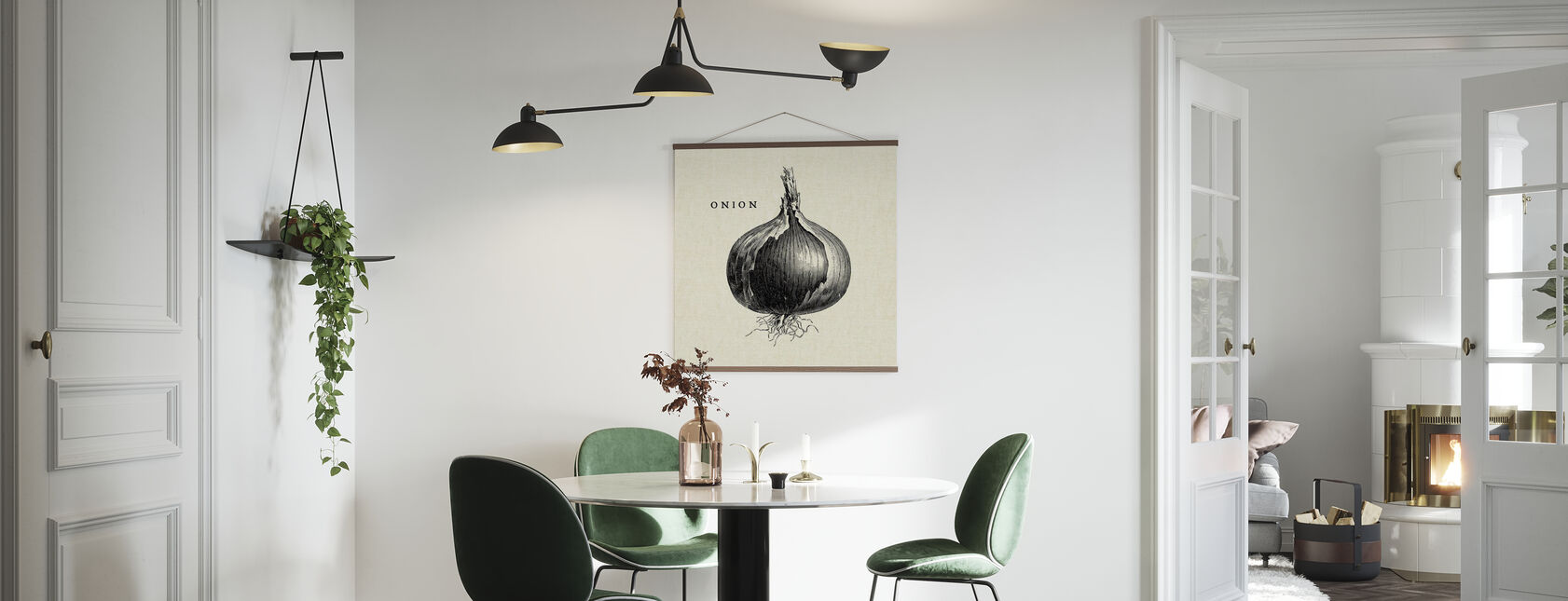 Kitchen Illustration - Onion - Poster - Kitchen