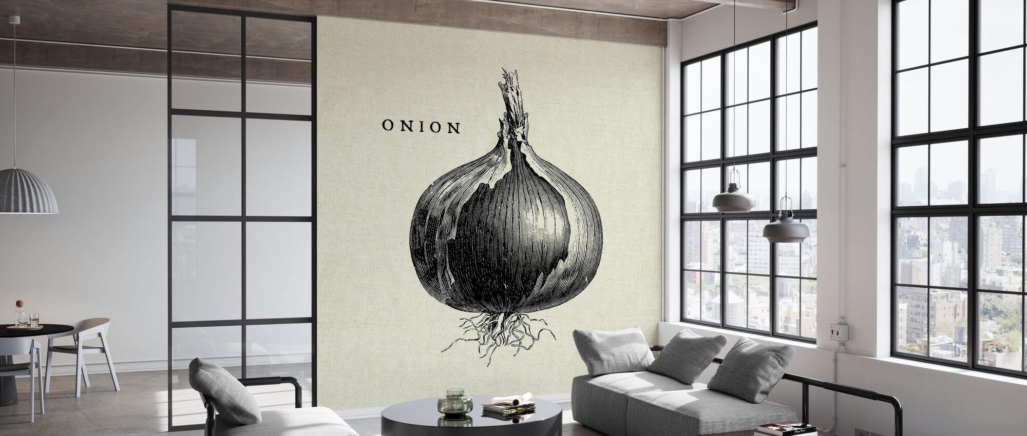 Küche Illustration - Zwiebel - Tapete - Büro