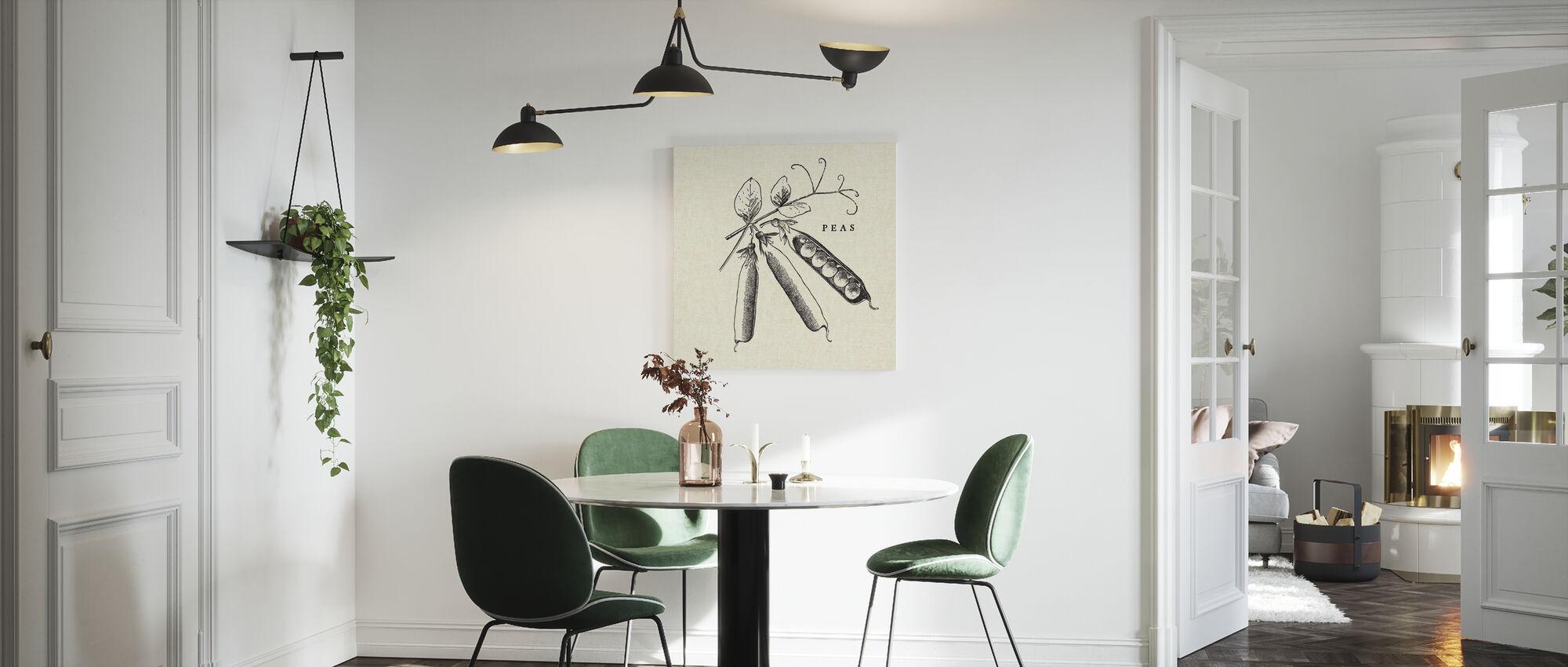 Kjøkken Illustrasjon - Erter - Lerretsbilde - Kjøkken