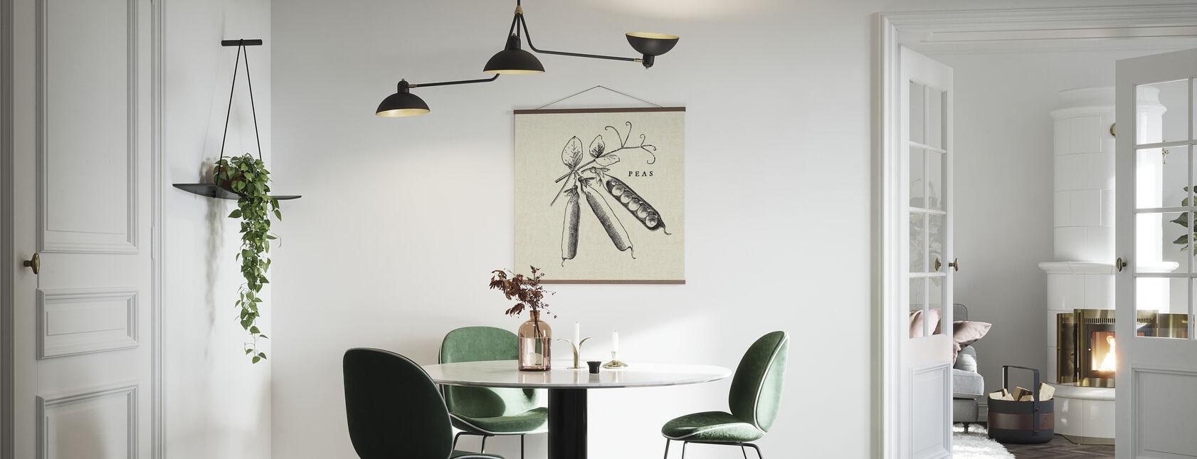 Keuken Illustratie - Erwten - Poster - Keuken