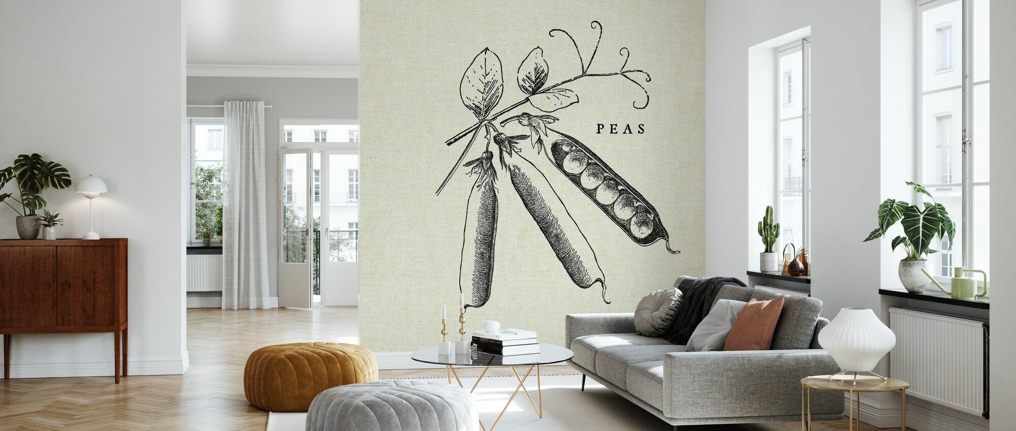 Ilustración de cocina - Peas - Papel pintado - Salón