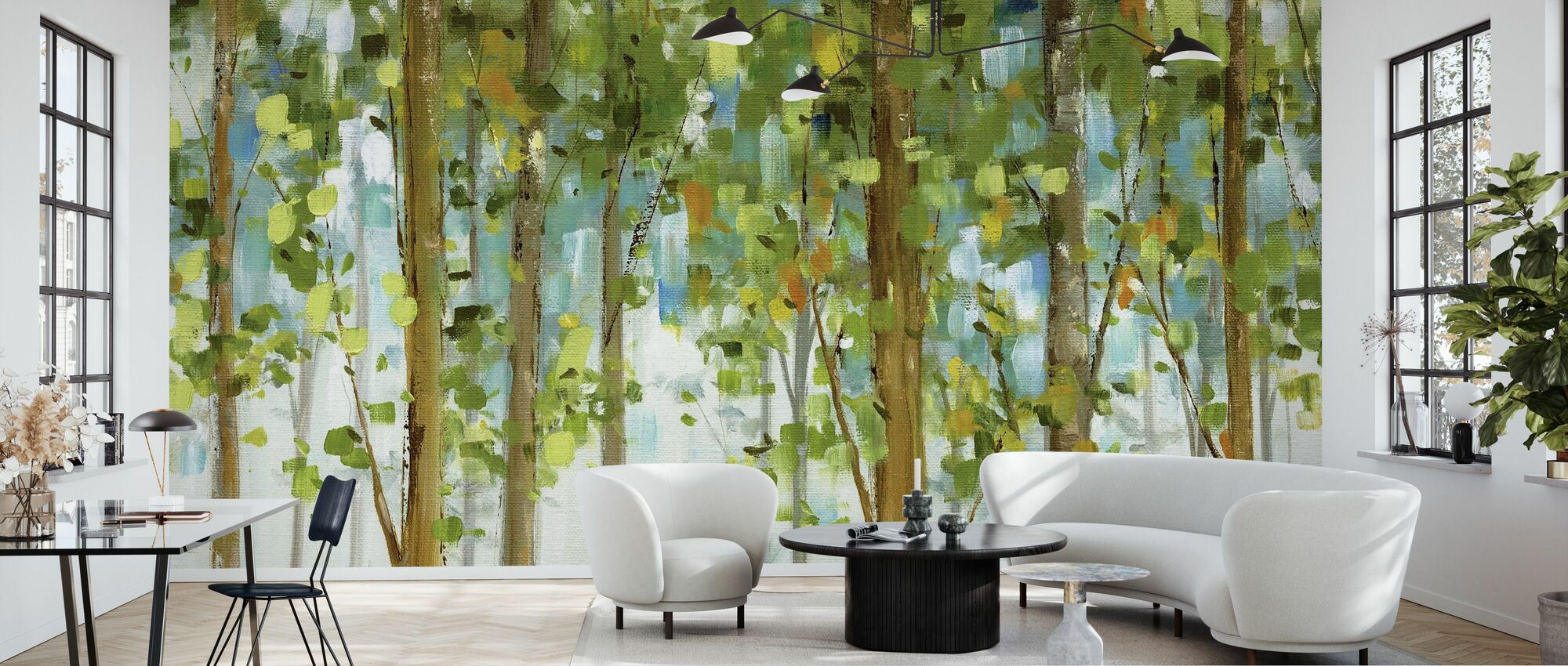 Forest Study - Wallpaper - Living Room