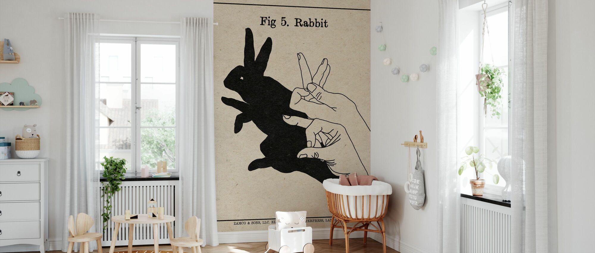 The Art of Shadows - Rabbit - Wallpaper - Nursery