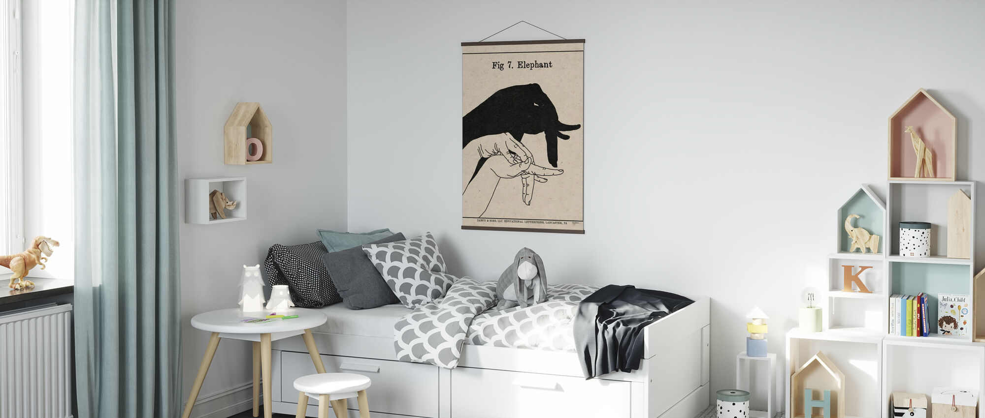 The Art of Shadows - Elephant - Poster - Kids Room