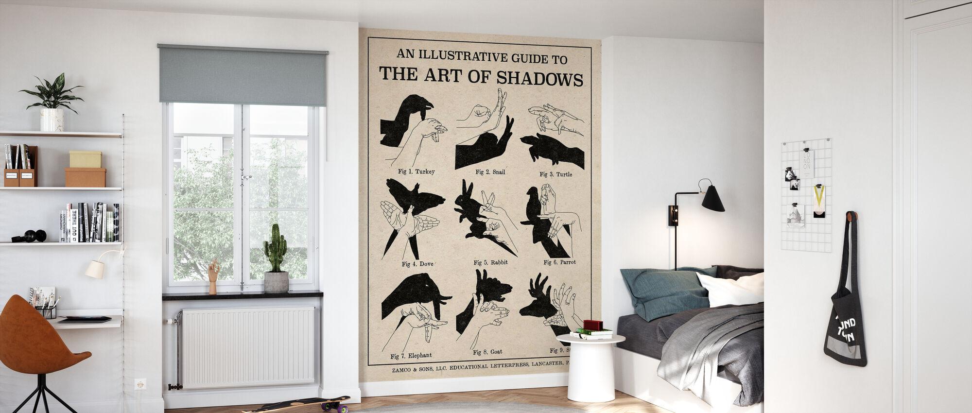 De kunst van schaduwen - Behang - Kinderkamer