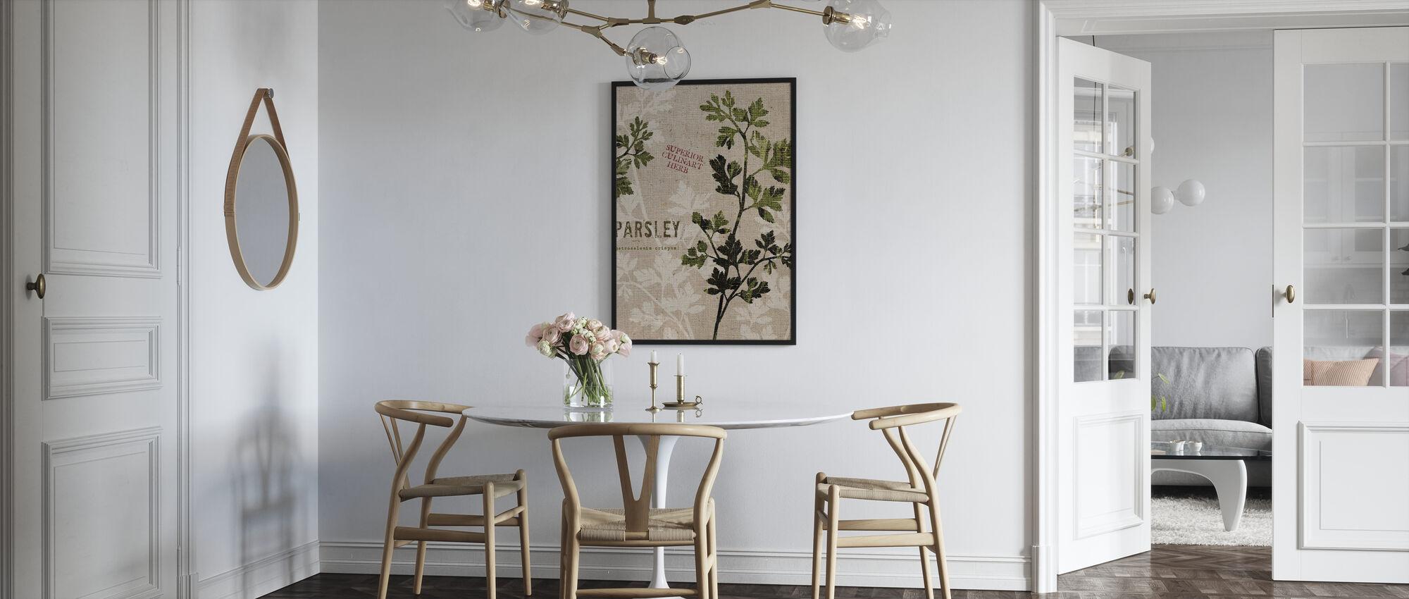 Organic Parsley - Framed print - Kitchen