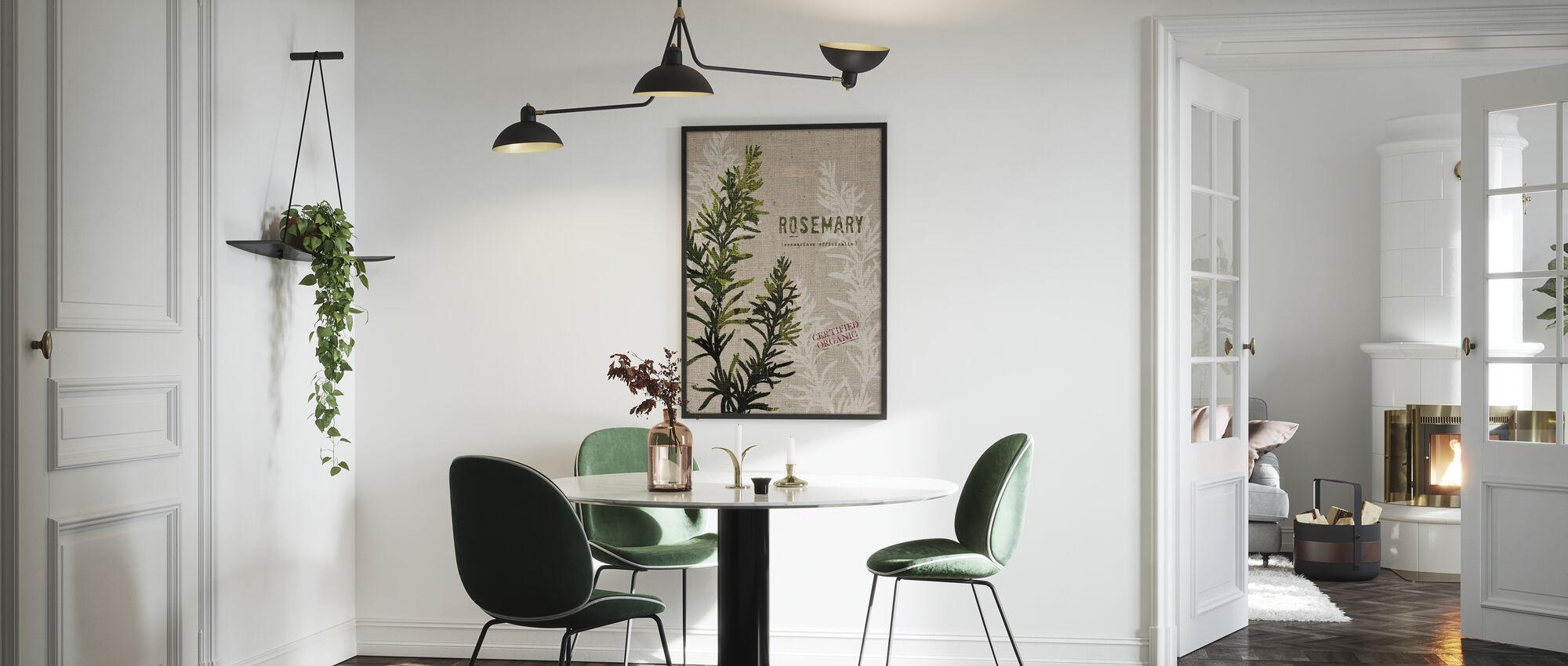 Organic Rosemary - Framed print - Kitchen