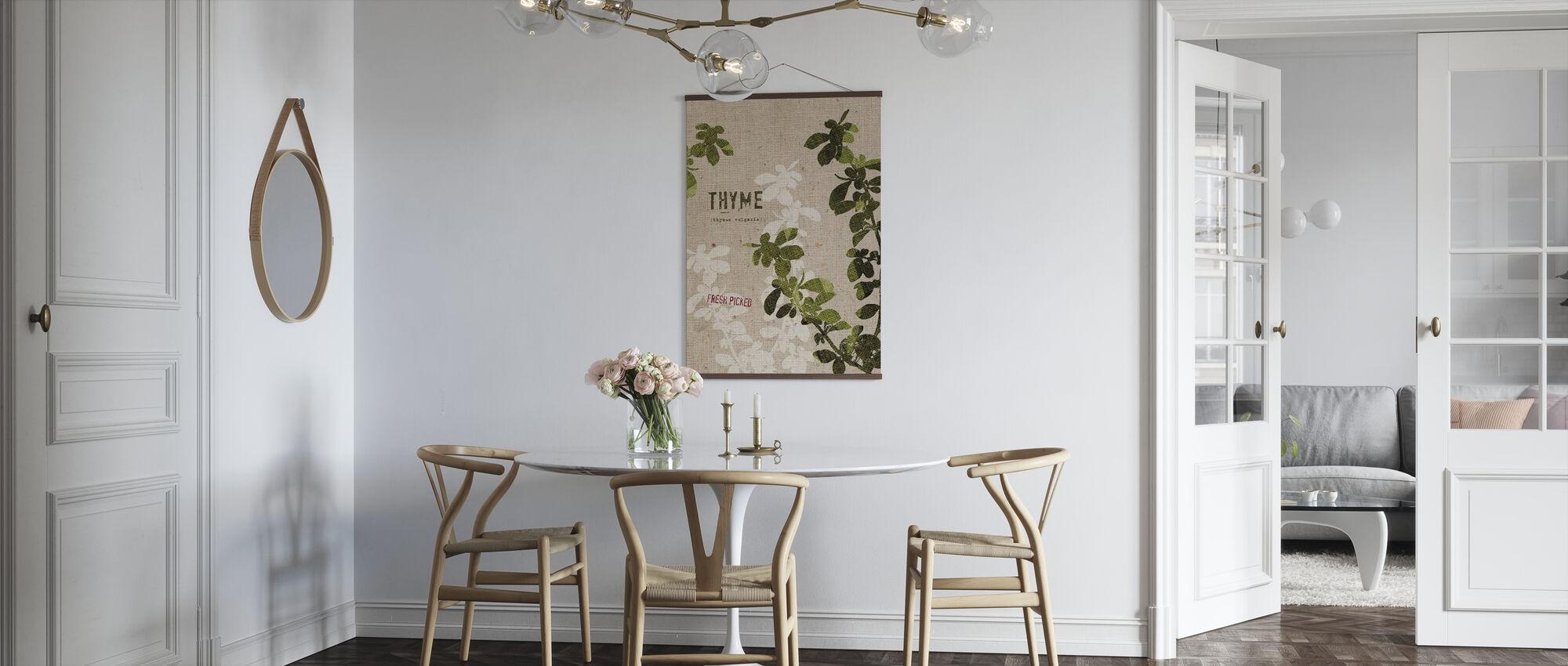 Organic Thyme - Poster - Kitchen