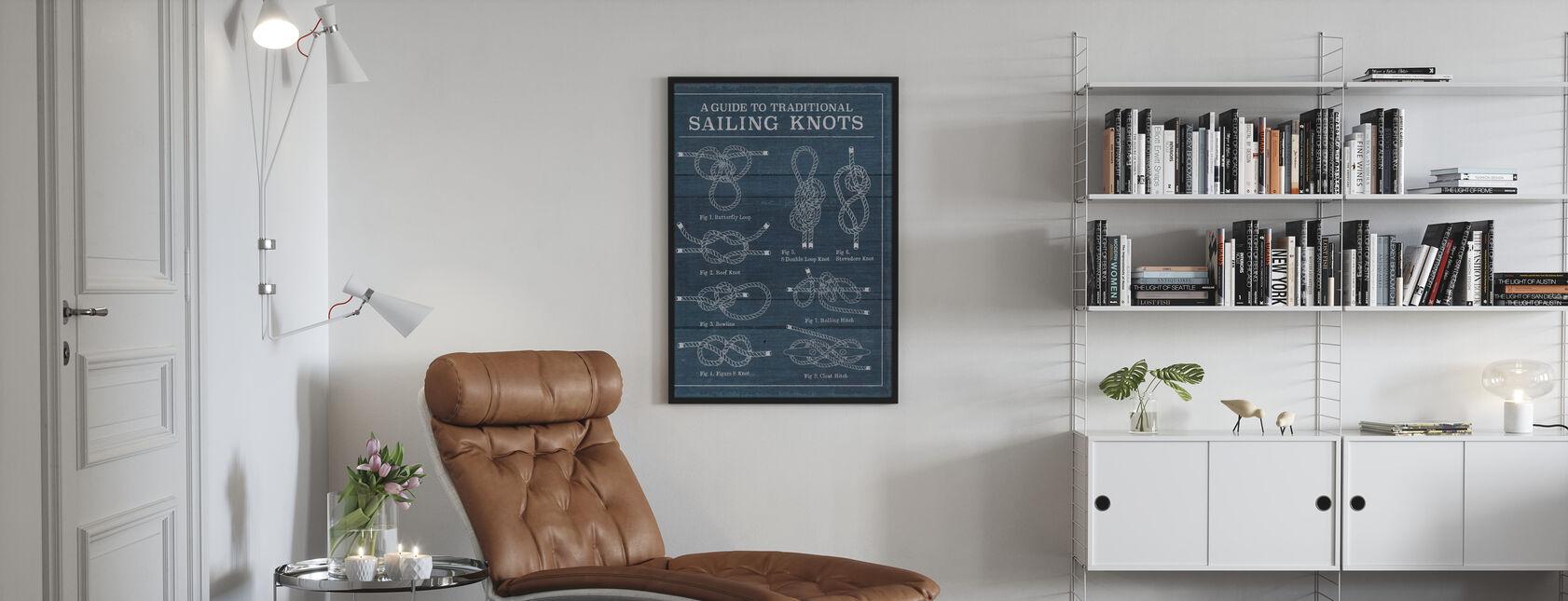Vintage Zeilknopen - Poster - Woonkamer