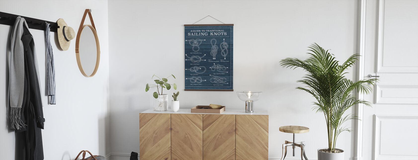 Vintage Sailing Knots - Poster - Hallway