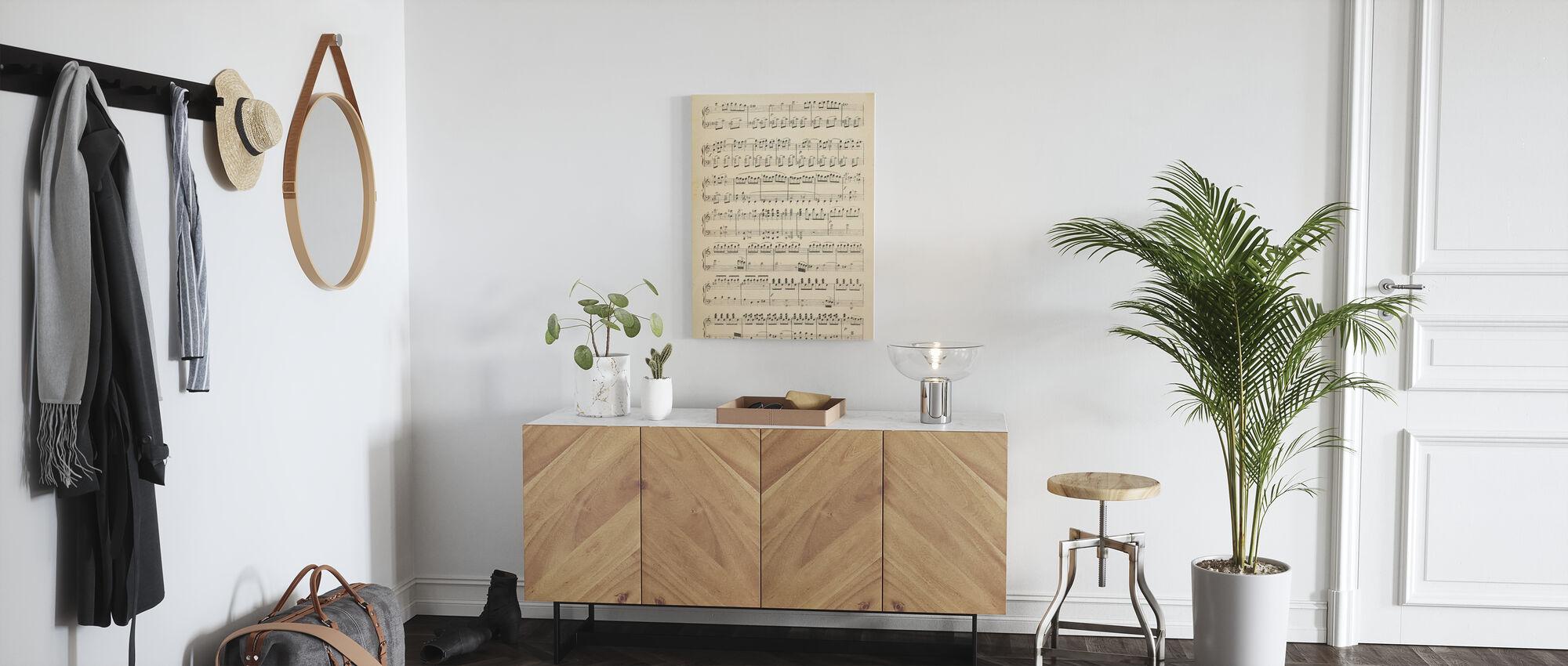 Musical Notes part 1 - Canvas print - Hallway