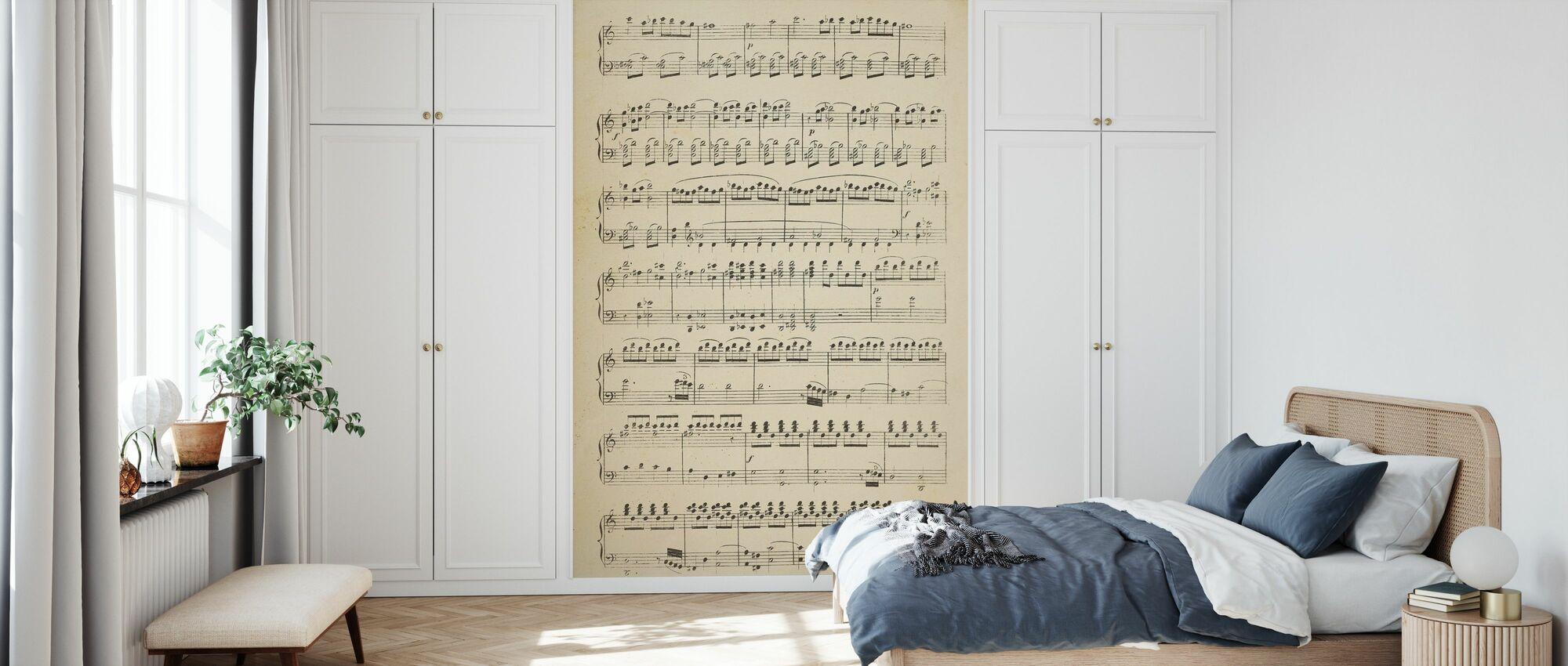 Musiknoten Teil 1 - Tapete - Schlafzimmer