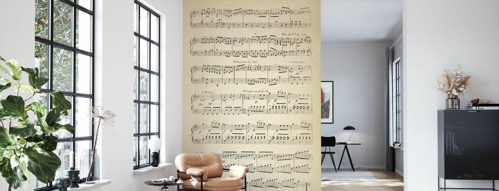 Musical Notes part 2 - Wallpaper - Living Room
