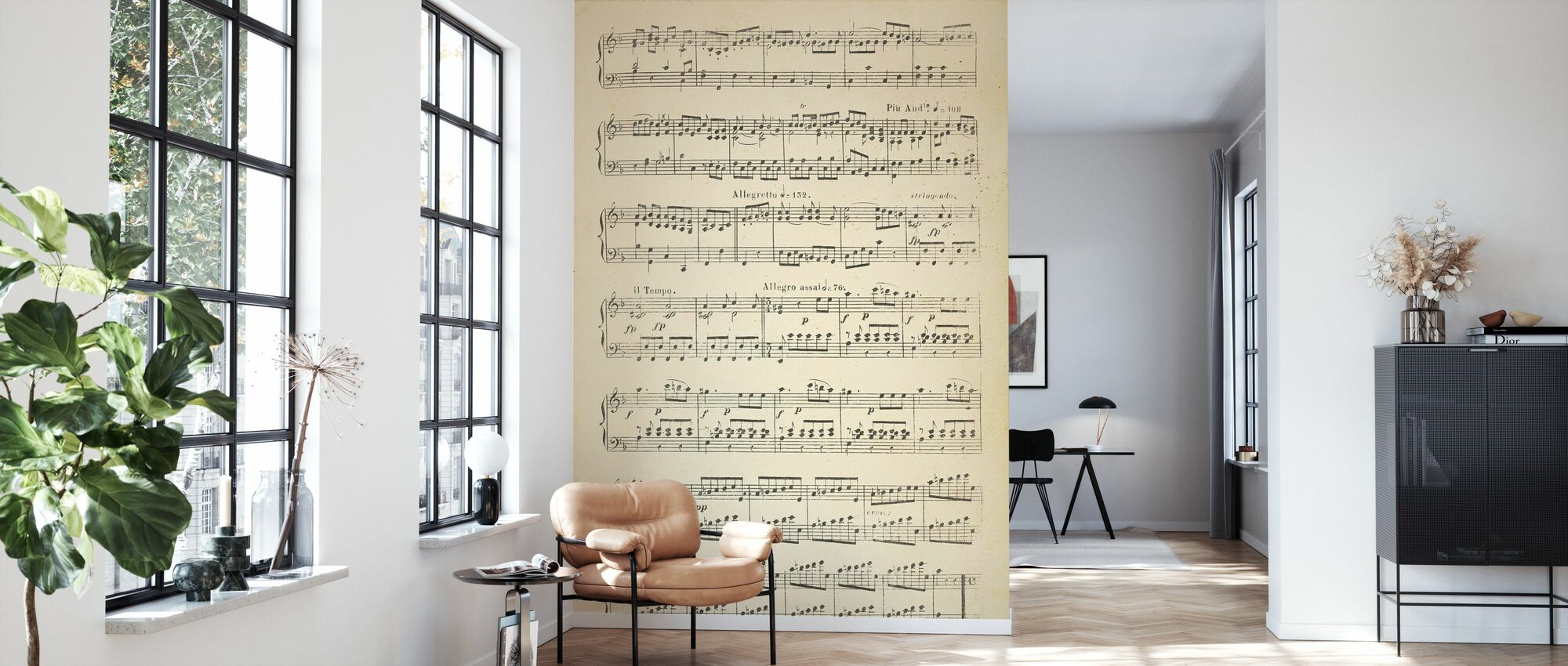 Musical Notes part 2 - Wallpaper - Living Room
