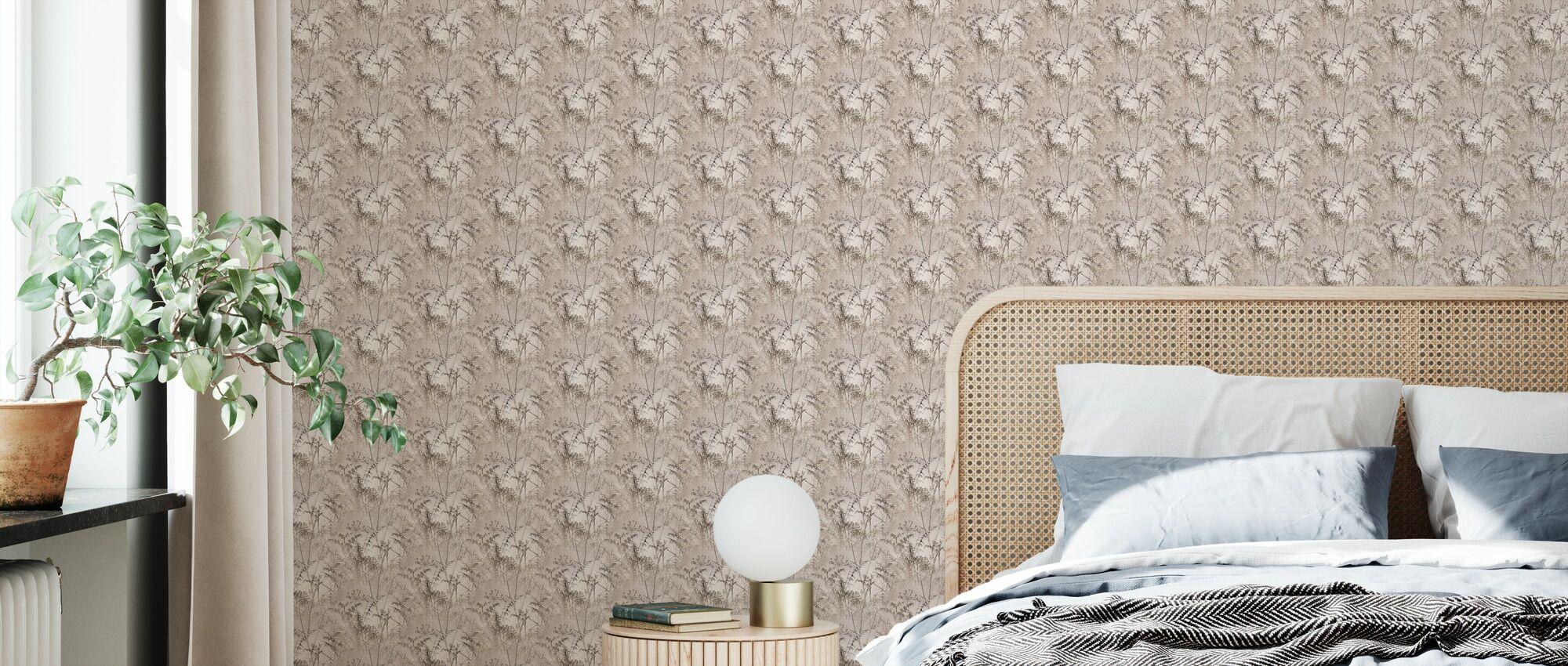 Paper Weeds III - Wallpaper - Bedroom