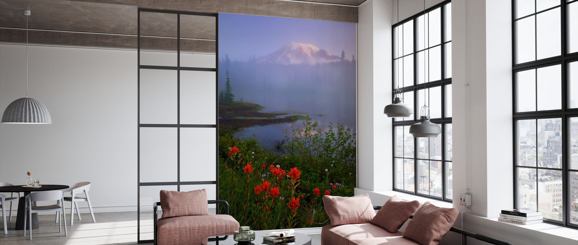 Early Summer Morning, Rainier National Park - Wallpaper - Office