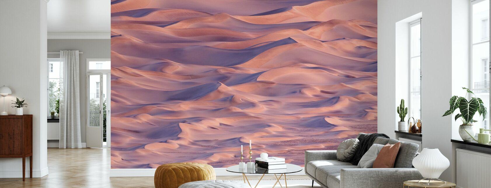 Zandduinen bij zonsondergang, Californië - Behang - Woonkamer