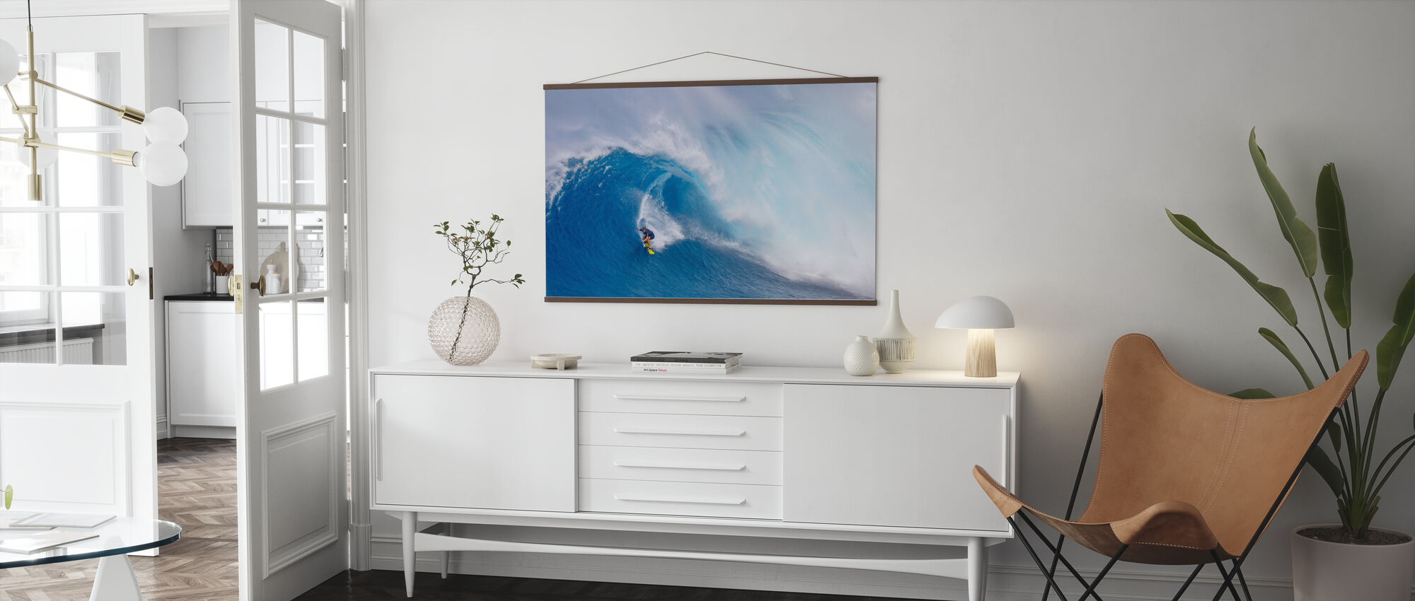 Surfing Jaws - Poster - Living Room