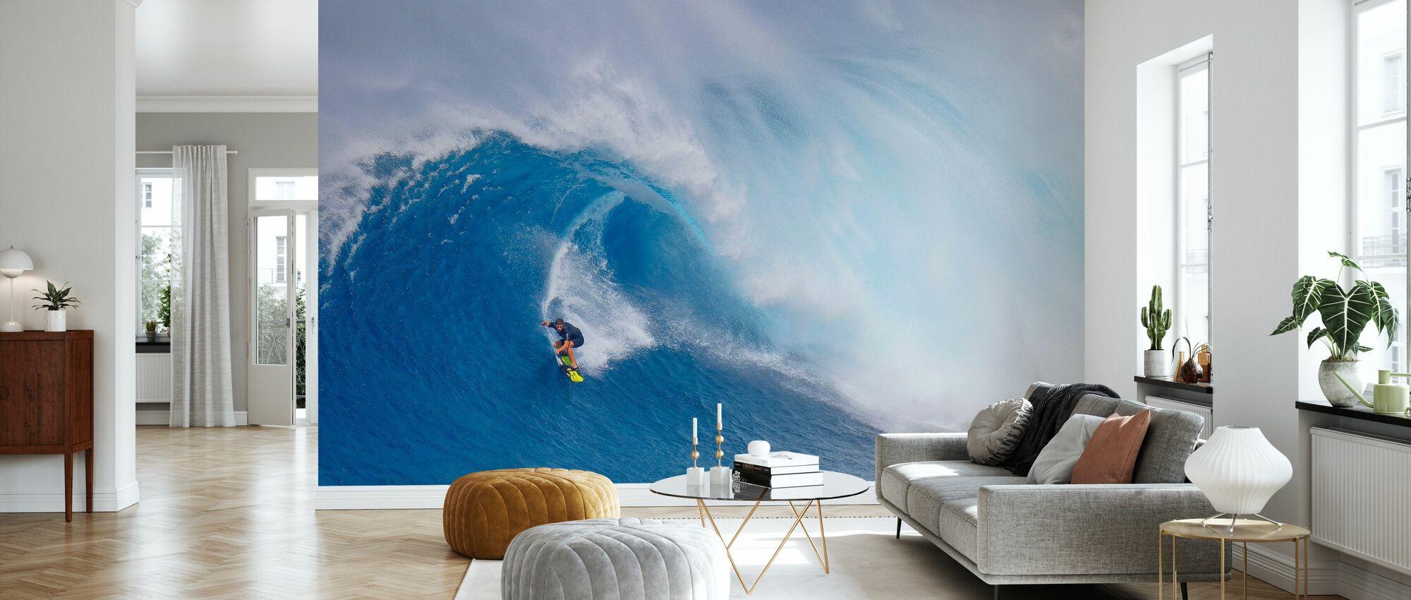 Surfing Jaws - Wallpaper - Living Room