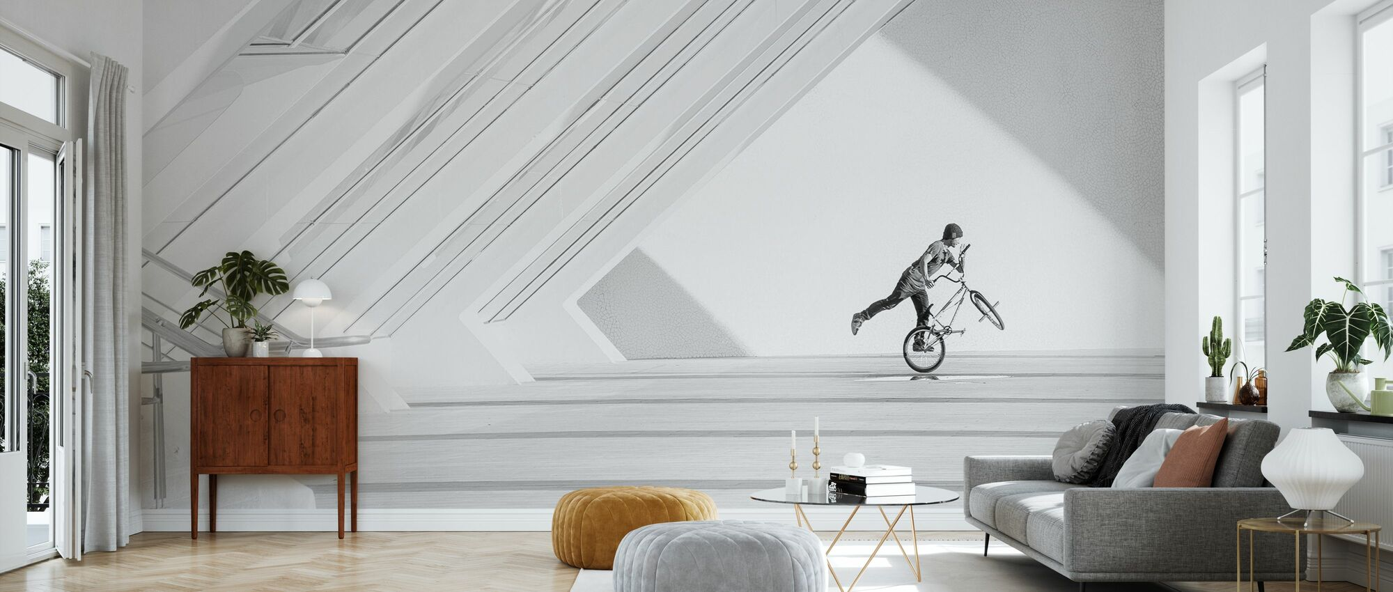 Bicycle Art - Wallpaper - Living Room