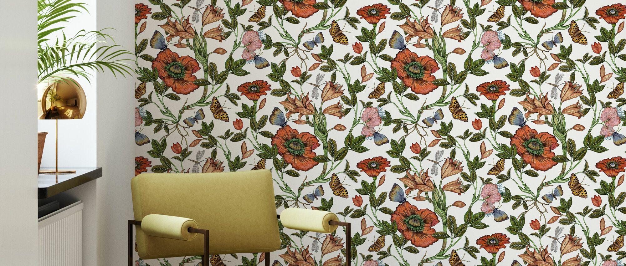 Lily Offwhite - Tapet - Vardagsrum