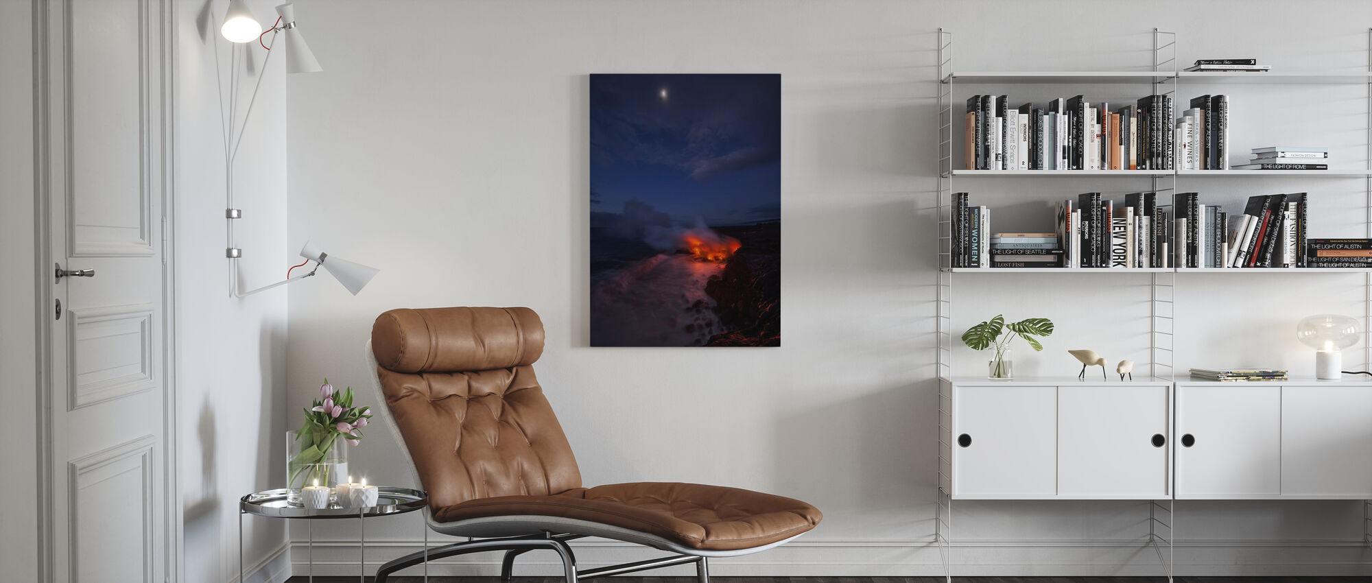 Thinking Thin - Canvas print - Living Room