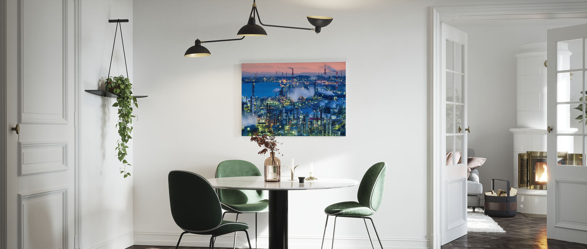 Factory Night View - Canvas print - Kitchen