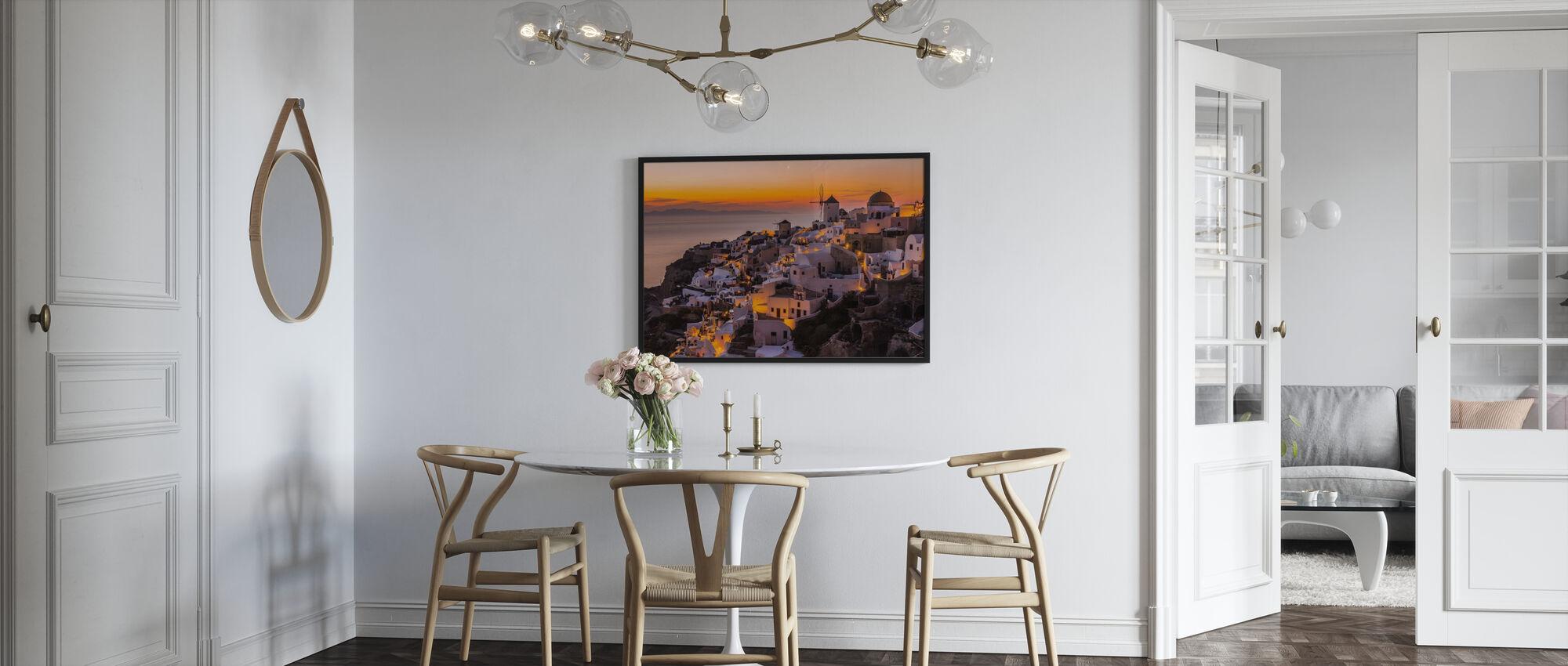 Calispera Santorini - Framed print - Kitchen